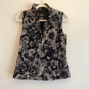 Relaxed by Charter Club Floral Velvet Vest